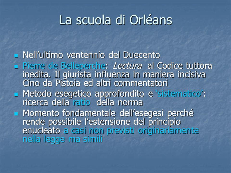 La scuola di Orléans Nell'ultimo ventennio del Duecento