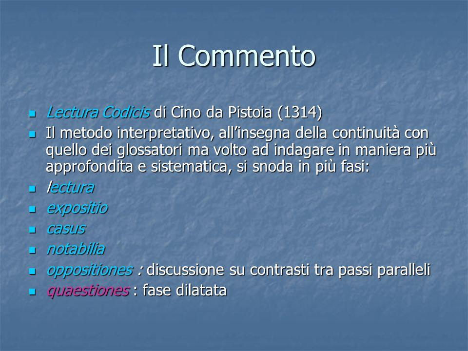 Il Commento Lectura Codicis di Cino da Pistoia (1314)
