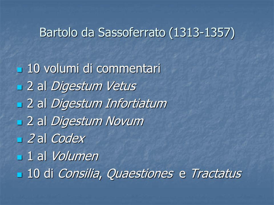 Bartolo da Sassoferrato (1313-1357)