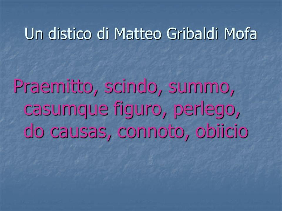 Un distico di Matteo Gribaldi Mofa