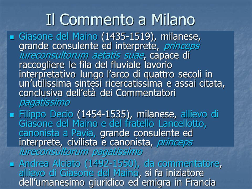 Il Commento a Milano