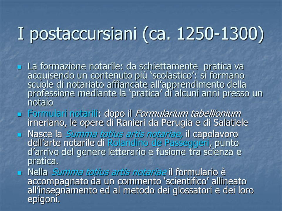 I postaccursiani (ca. 1250-1300)