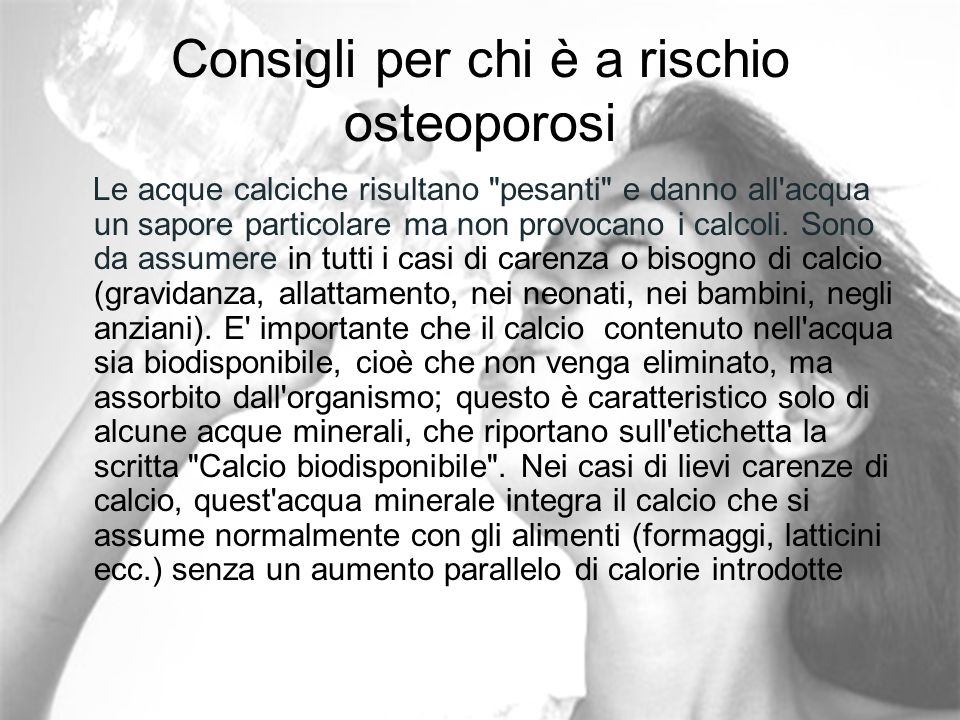 Consigli per chi è a rischio osteoporosi