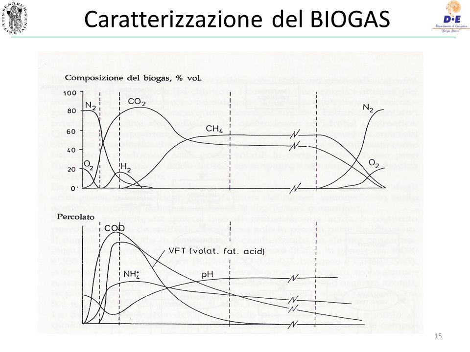 Caratterizzazione del BIOGAS