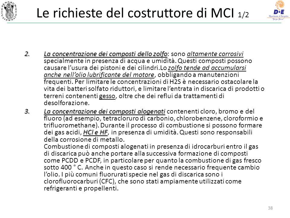 Le richieste del costruttore di MCI 1/2