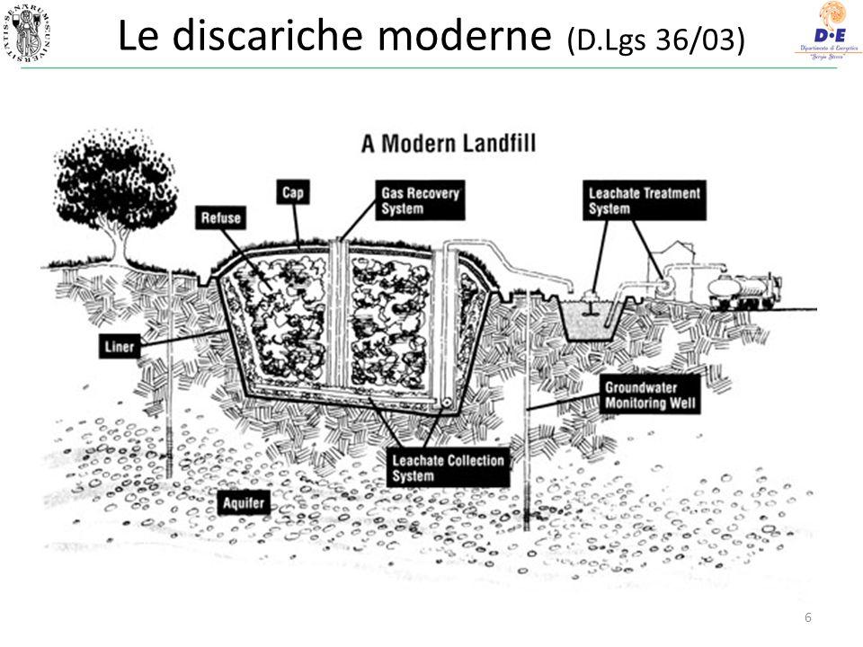 Le discariche moderne (D.Lgs 36/03)