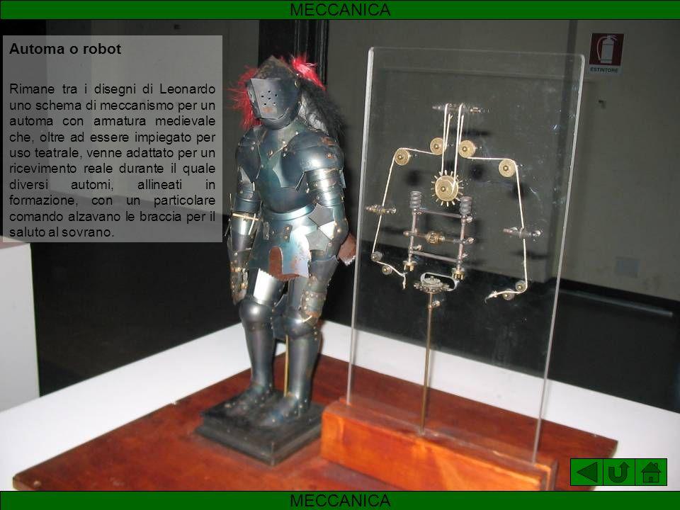 MECCANICA MECCANICA Automa o robot
