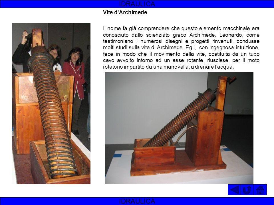 IDRAULICA IDRAULICA Vite d Archimede