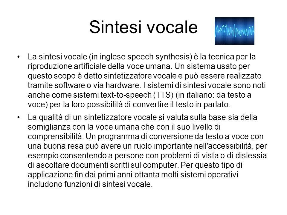 Sintesi vocale