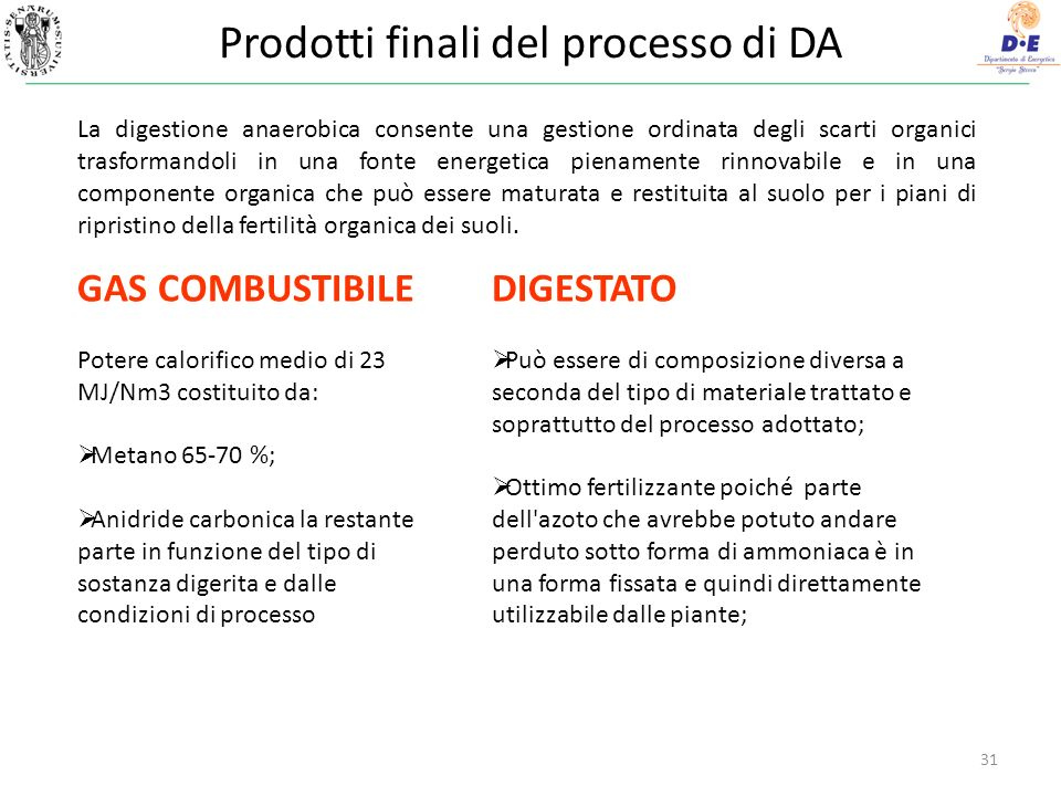 Prodotti finali del processo di DA