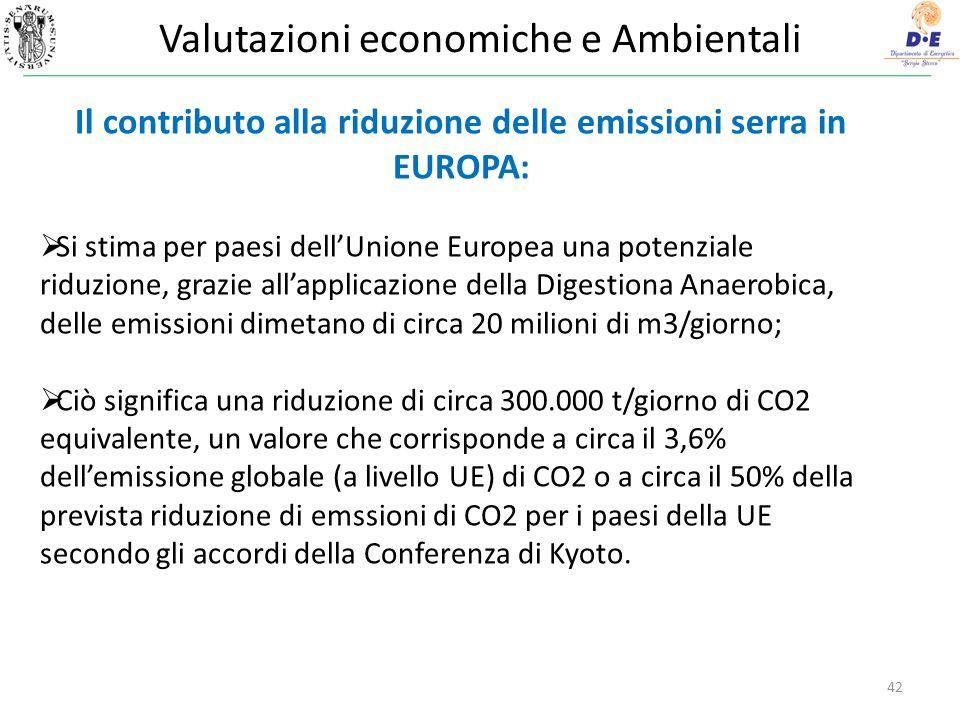 Valutazioni economiche e Ambientali
