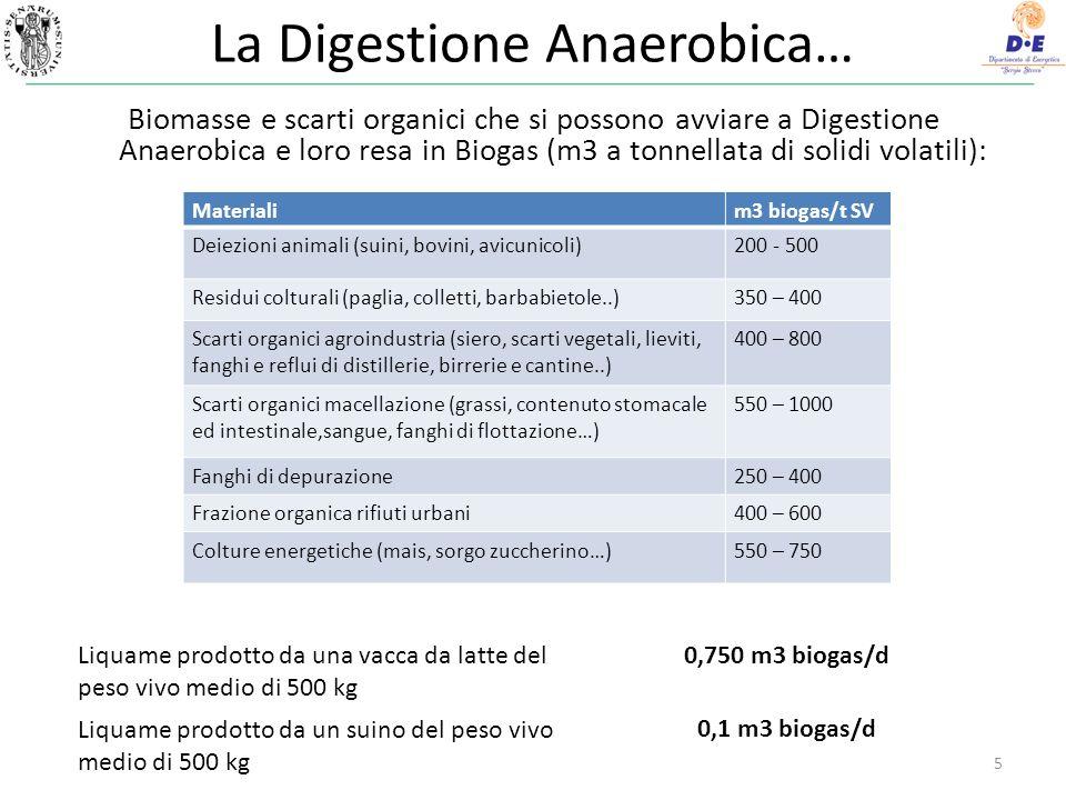 La Digestione Anaerobica…