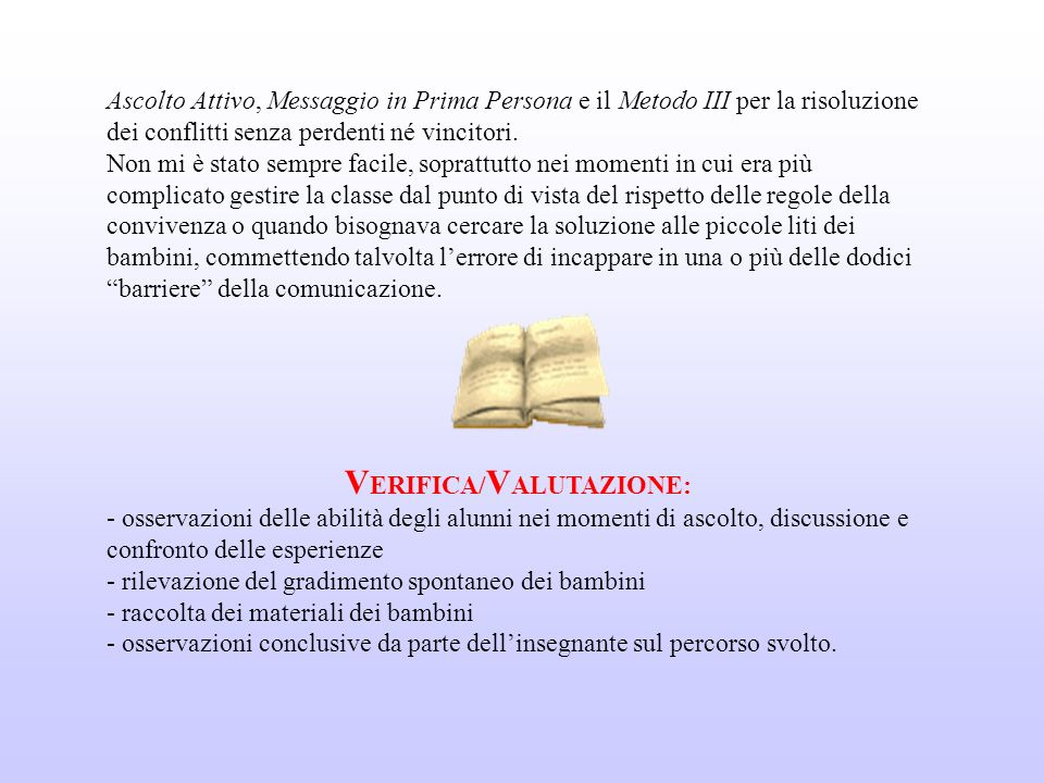 VERIFICA/VALUTAZIONE: