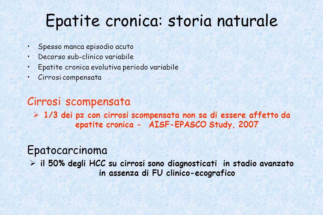 Epatite cronica Le malattie croniche del fegato colpiscono il 10% della popolazione italiana (Villa 2007)