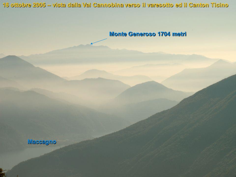 16 ottobre 2005 – vista dalla Val Cannobina verso il varesotto ed il Canton Ticino