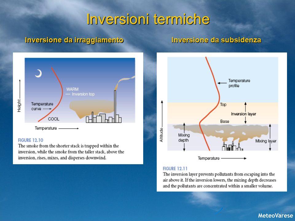 Inversioni termiche Inversione da irraggiamento