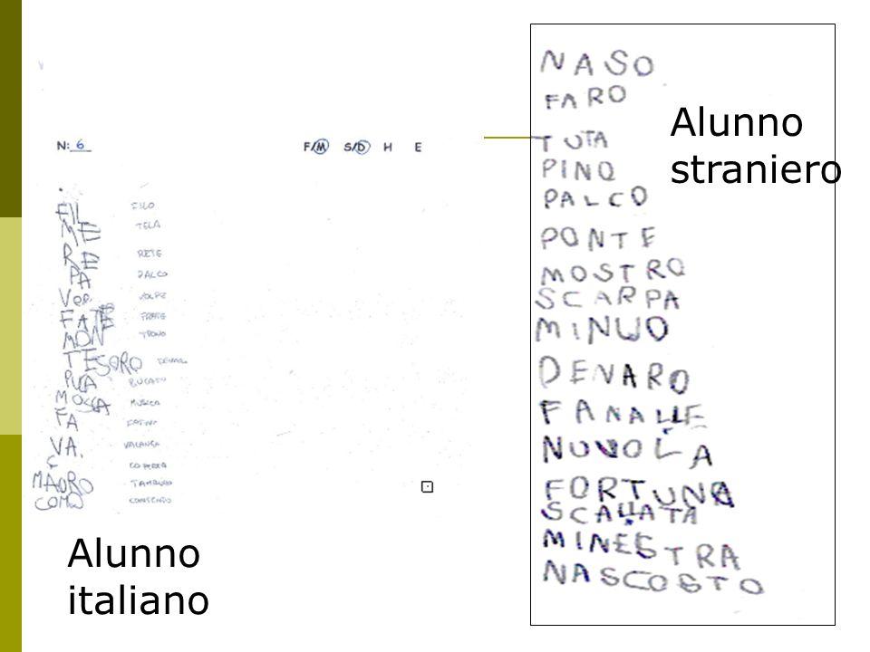Alunno straniero Alunno italiano