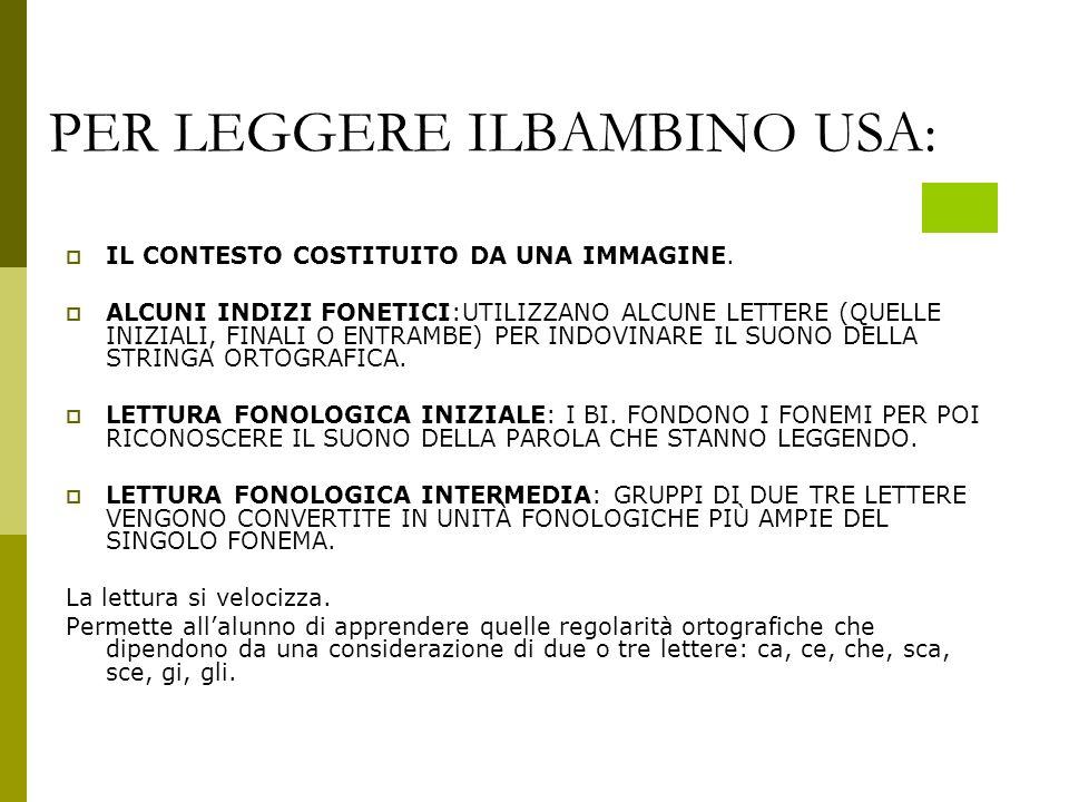 PER LEGGERE ILBAMBINO USA: