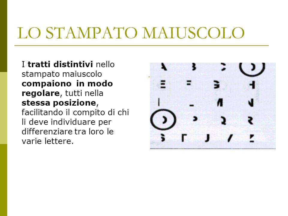 LO STAMPATO MAIUSCOLO