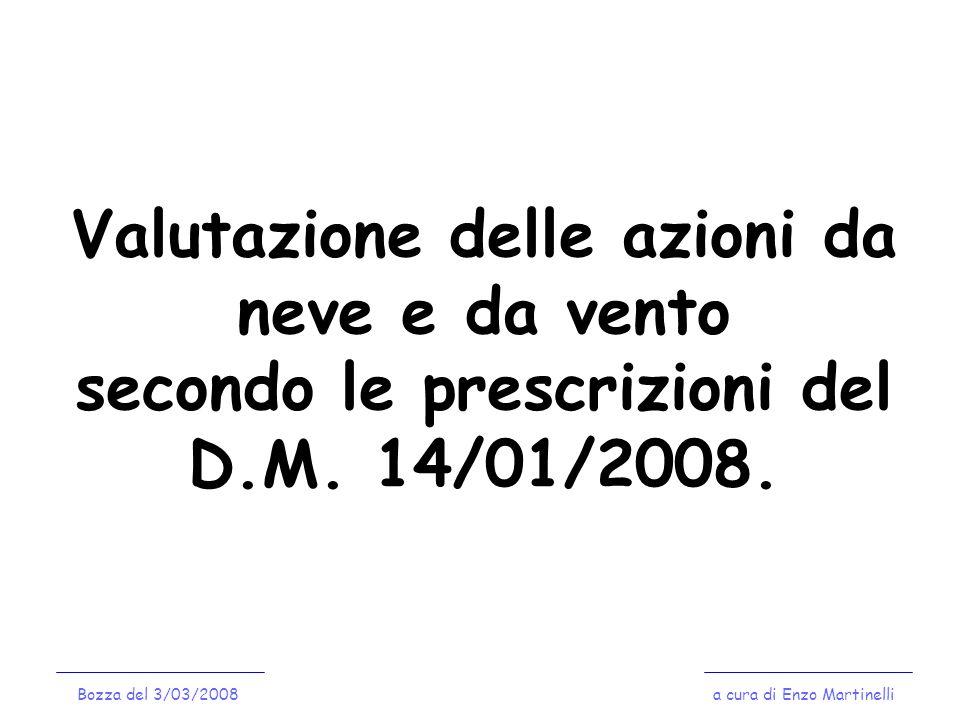 Valutazione delle azioni da neve e da vento secondo le prescrizioni del D.M. 14/01/2008.