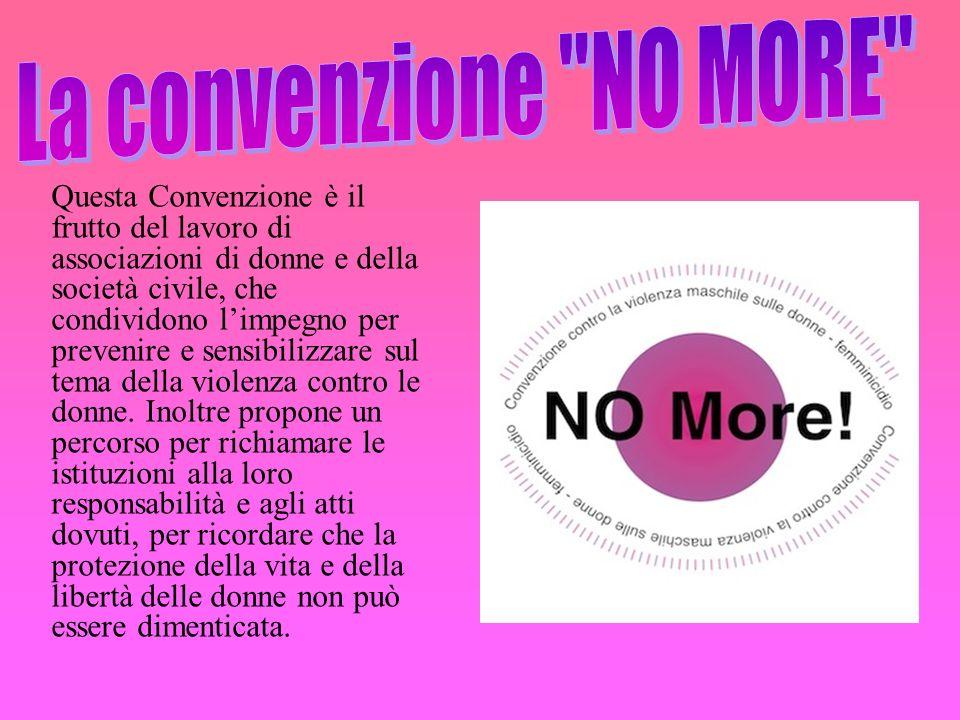 La convenzione NO MORE