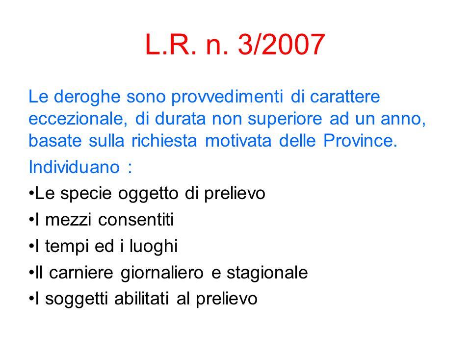 L.R. n. 3/2007