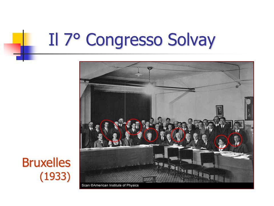 Il 7° Congresso Solvay Bruxelles (1933)