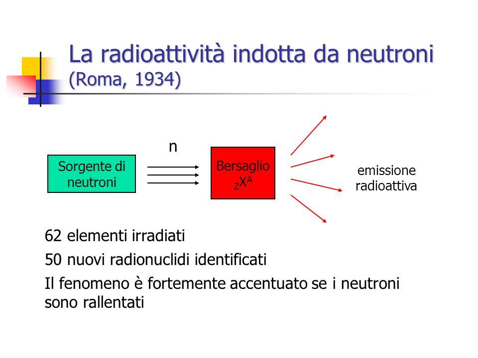 La radioattività indotta da neutroni (Roma, 1934)