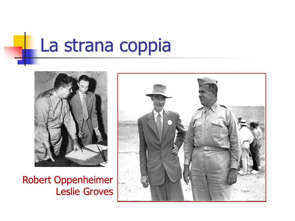 La strana coppia Robert Oppenheimer Leslie Groves
