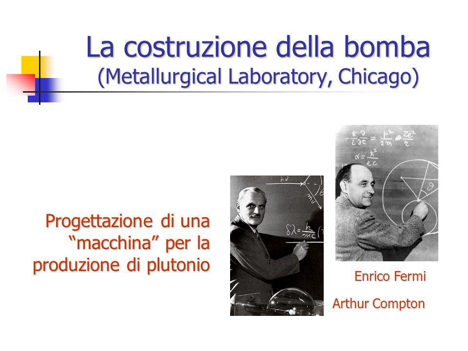 La costruzione della bomba (Metallurgical Laboratory, Chicago)
