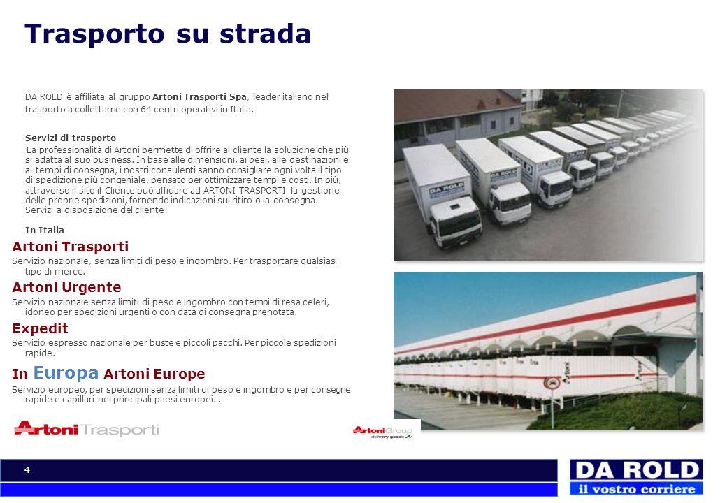 Trasporto su strada Artoni Trasporti Artoni Urgente Expedit