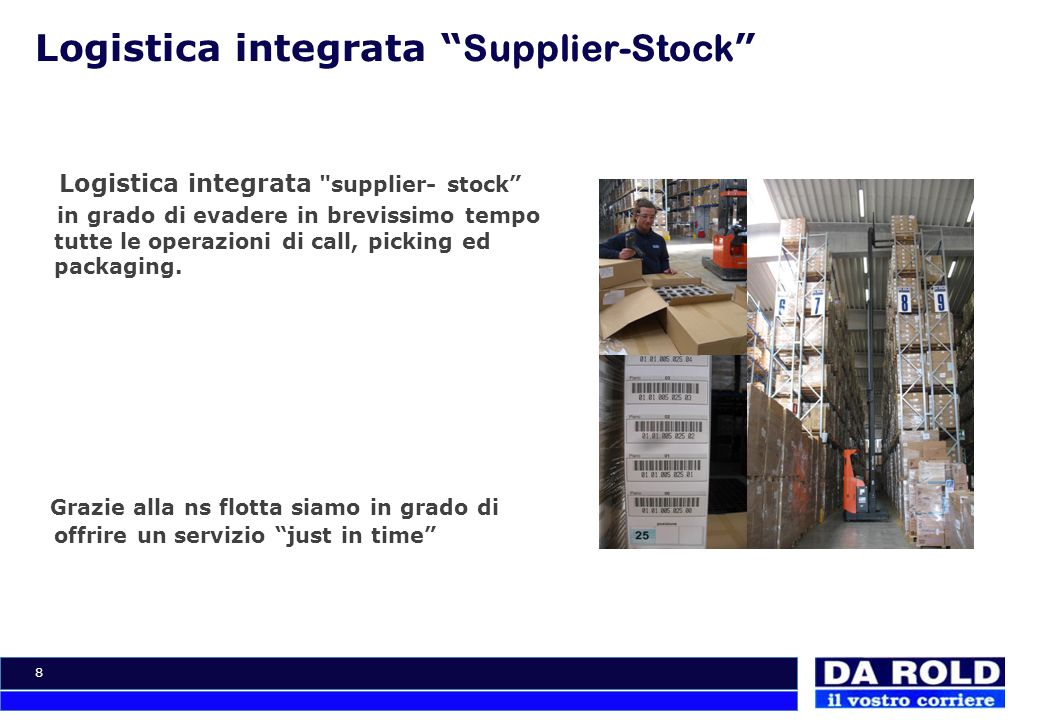 Logistica integrata Supplier-Stock