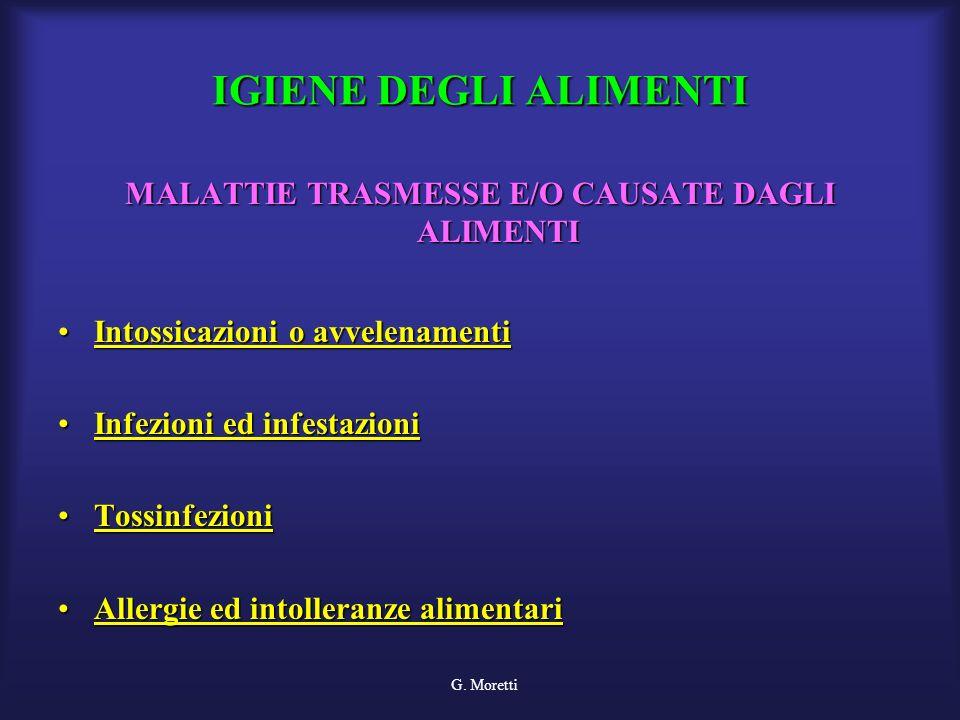 MALATTIE TRASMESSE E/O CAUSATE DAGLI ALIMENTI