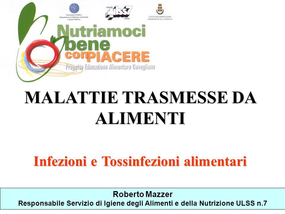 MALATTIE TRASMESSE DA ALIMENTI Infezioni e Tossinfezioni alimentari