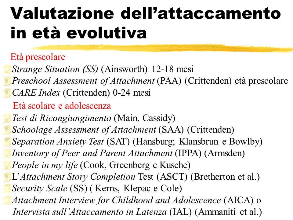 Valutazione dell'attaccamento in età evolutiva