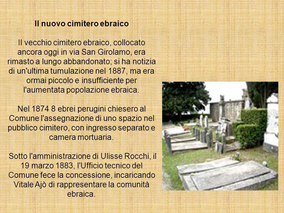 Il nuovo cimitero ebraico