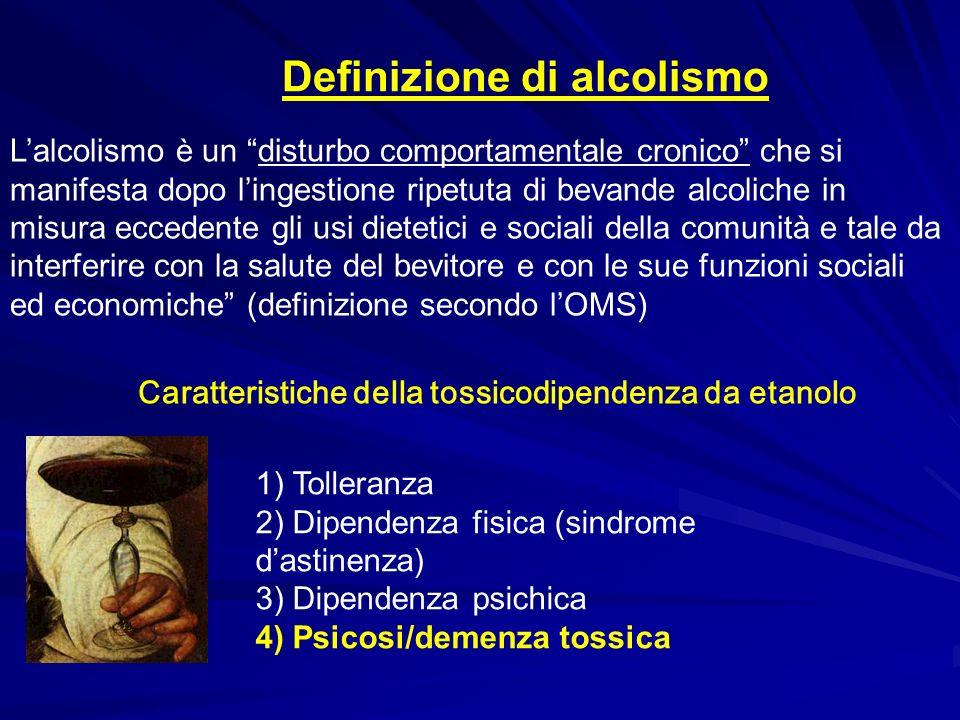 Definizione di alcolismo