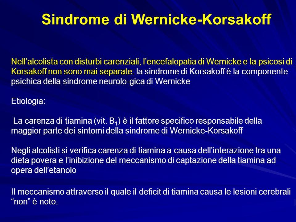 Sindrome di Wernicke-Korsakoff