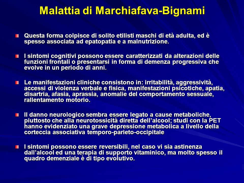 Malattia di Marchiafava-Bignami
