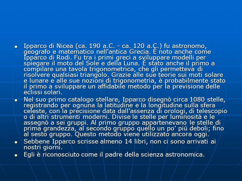 Ipparco di Nicea (ca. 190 a. C. - ca. 120 a. C