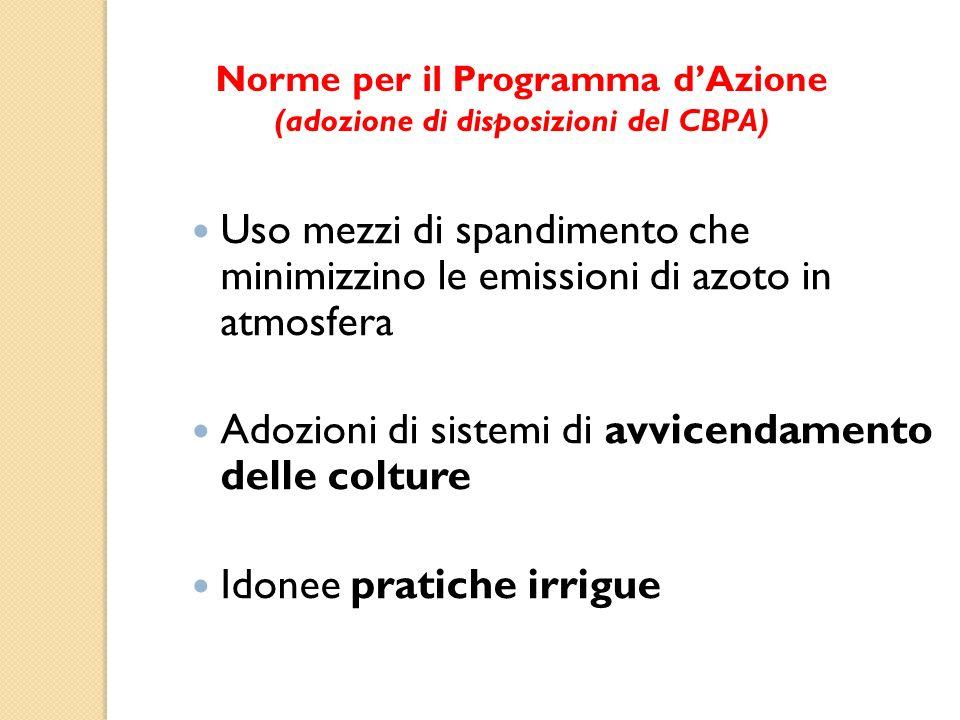 Norme per il Programma d'Azione (adozione di disposizioni del CBPA)