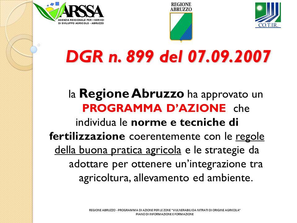 DGR n. 899 del 07.09.2007