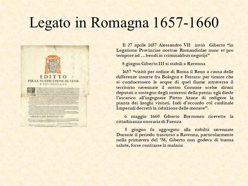 Legato in Romagna 1657-1660