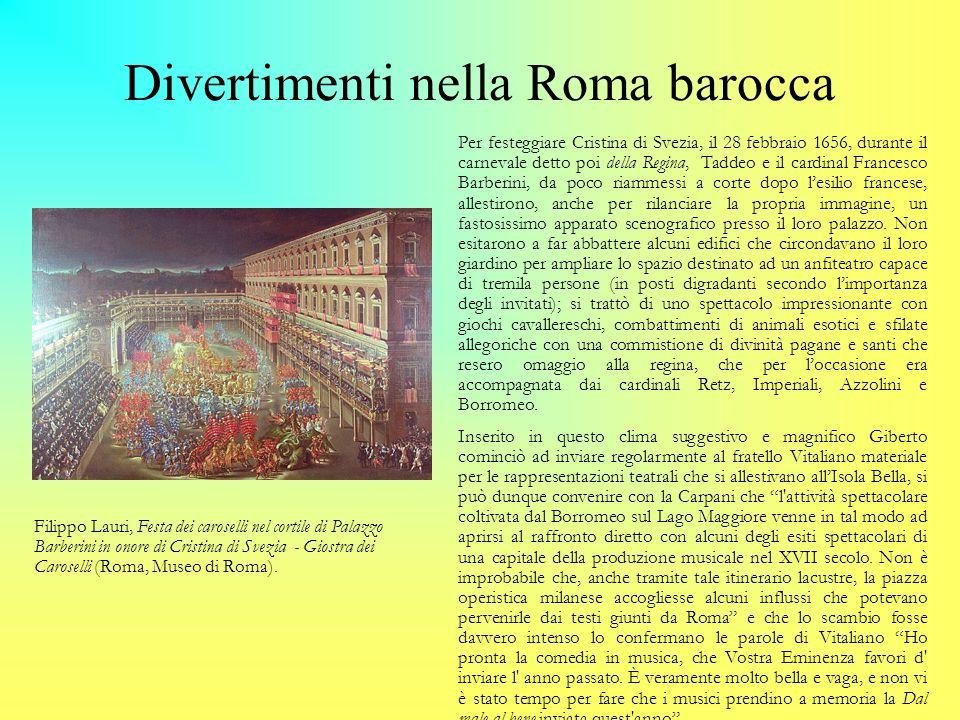 Divertimenti nella Roma barocca