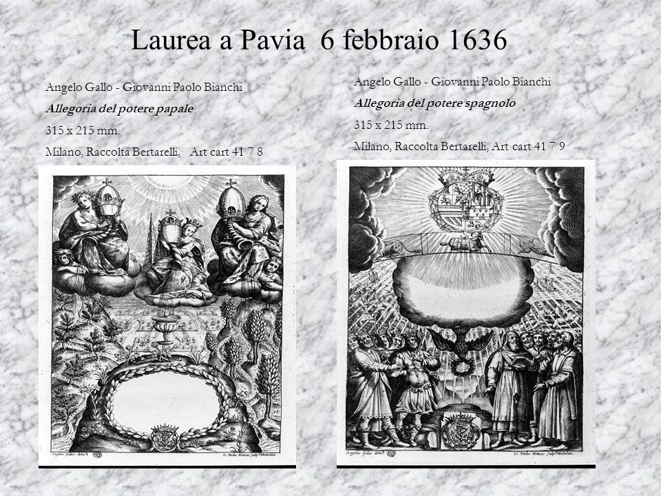 Laurea a Pavia 6 febbraio 1636