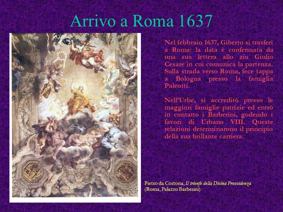 Arrivo a Roma 1637