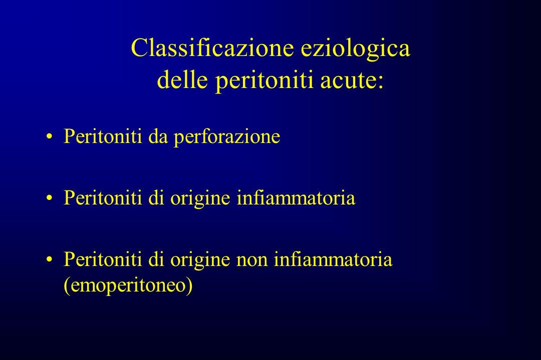 Classificazione eziologica delle peritoniti acute: