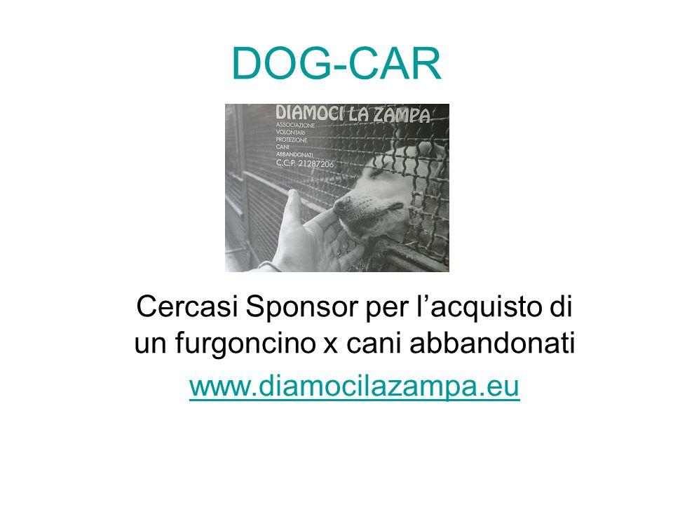 Cercasi Sponsor per l'acquisto di un furgoncino x cani abbandonati