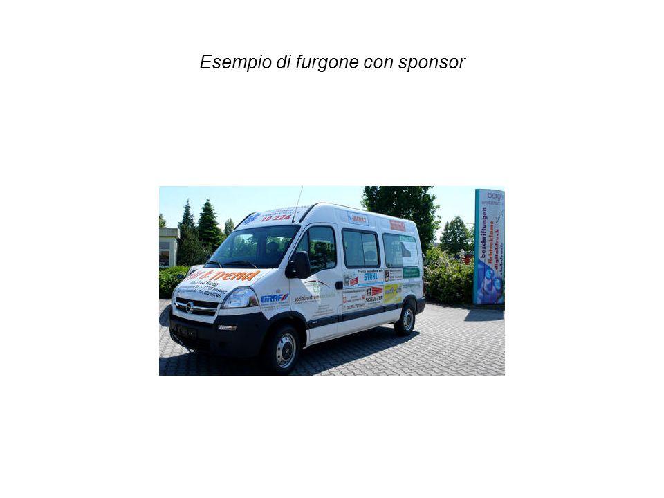 Esempio di furgone con sponsor