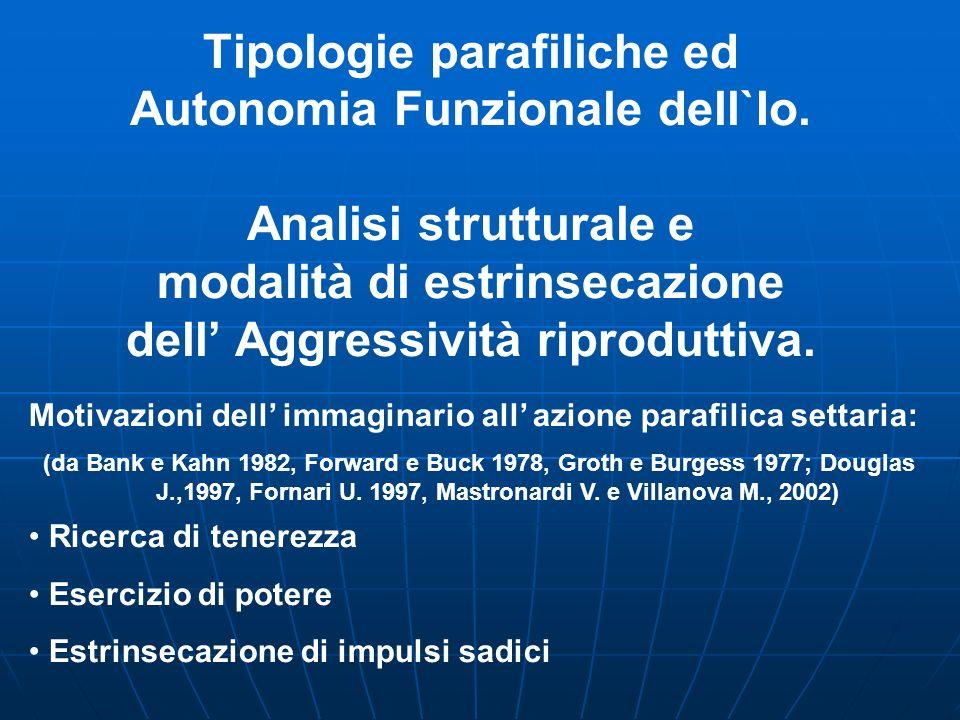 Tipologie parafiliche ed Autonomia Funzionale dell`Io